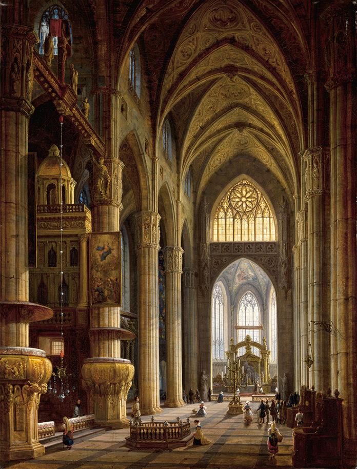 Wnętrze katedry w Mediolanie