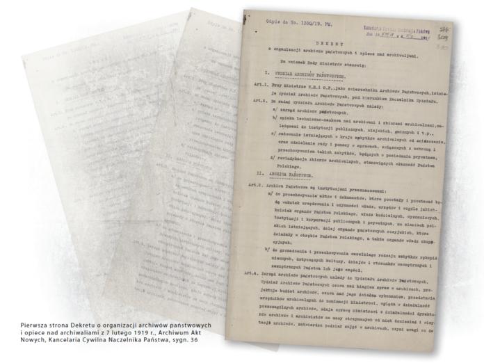 Dekret o organizacji archiwów państwowych i opiece nad archiwaliami